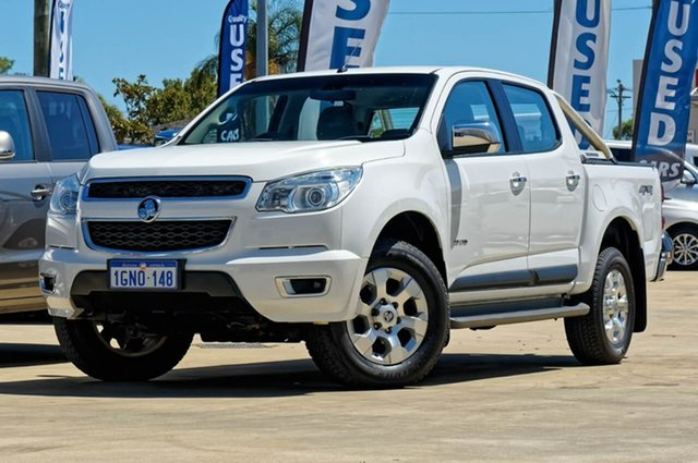 Used Holden Colorado RG MY14 LTZ Crew Cab 4x2, 2014 Holden Colorado RG MY14 LTZ Crew Cab 4x2 White 6 Speed Manual Utility