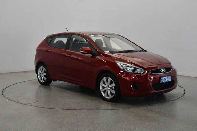 Used Hyundai Accent RB6 MY18 Sport, 2018 Hyundai Accent RB6 MY18 Sport Pulse Red 6 Speed Sports Automatic Hatchback