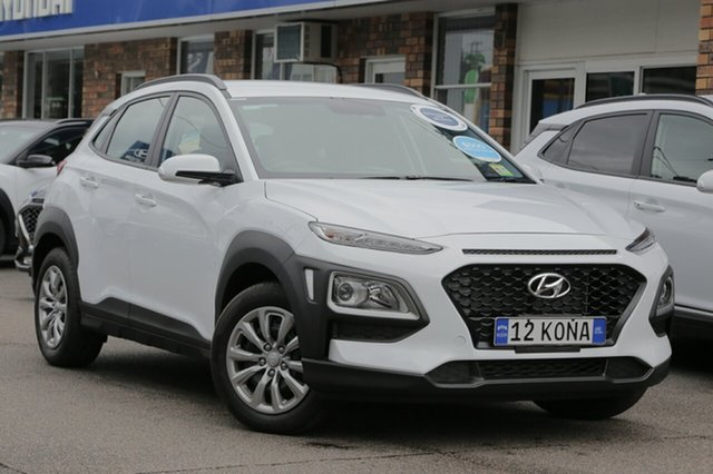 Demo Hyundai Kona OS.2 MY19 Go 2WD, 2018 Hyundai Kona OS.2 MY19 Go 2WD Chalk White 6 Speed Sports Automatic Wagon