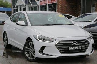 2018 Hyundai Elantra AD MY18 Elite Polar White 6 Speed Sports Automatic Sedan.