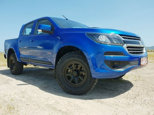 Used Holden Colorado RG MY18 LS Pickup Crew Cab, 2018 Holden Colorado RG MY18 LS Pickup Crew Cab Blue 6 Speed Sports Automatic Utility
