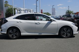 2018 Honda Civic 10th Gen MY18 VTi-LX White Orchid 1 Speed Constant Variable Hatchback.