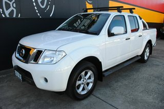 2012 Nissan Navara D40 S6 MY12 ST Arctic White 6 Speed Manual Utility