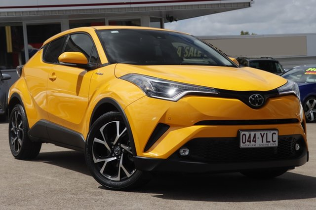Used Toyota C-HR NGX10R Koba S-CVT 2WD, 2017 Toyota C-HR NGX10R Koba S-CVT 2WD Hornet Yellow 7 Speed Constant Variable Wagon