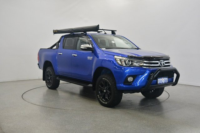 Used Toyota Hilux GUN126R SR5 Double Cab, 2017 Toyota Hilux GUN126R SR5 Double Cab Blue 6 Speed Sports Automatic Utility