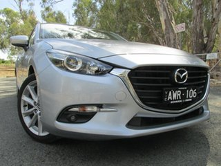 2018 Mazda 3 SP25 Silver 6 Speed Automatic Hatchback.