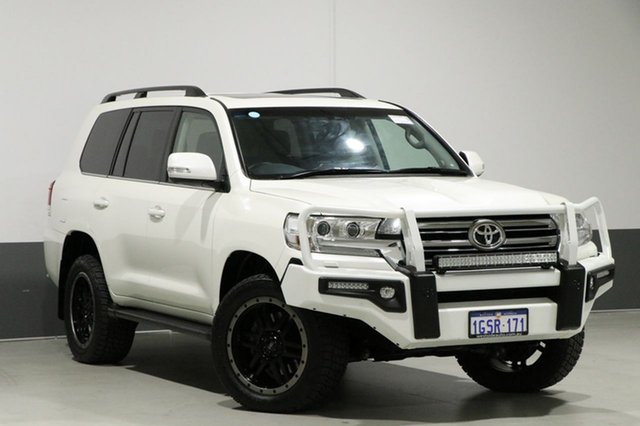 Used Toyota Landcruiser VDJ200R MY16 VX (4x4), 2015 Toyota Landcruiser VDJ200R MY16 VX (4x4) Pearl White 6 Speed Automatic Wagon