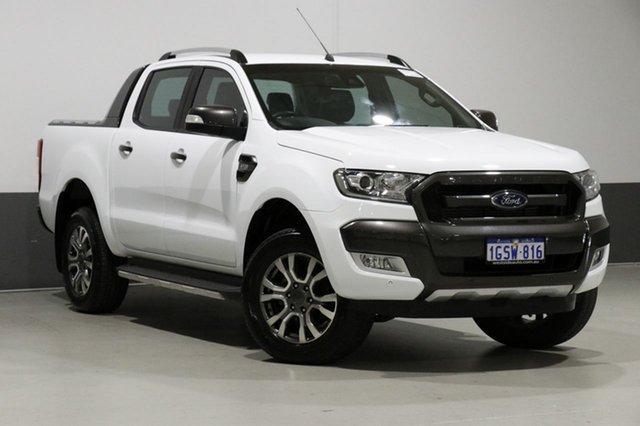 Used Ford Ranger PX MkII MY18 Wildtrak 3.2 (4x4), 2017 Ford Ranger PX MkII MY18 Wildtrak 3.2 (4x4) White 6 Speed Automatic Dual Cab Pick-up