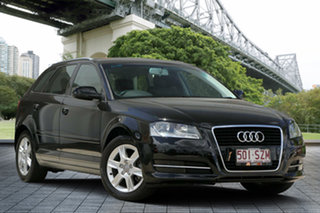 2012 Audi A3 8P MY12 Attraction Sportback S Tronic Black 7 Speed Sports Automatic Dual Clutch.