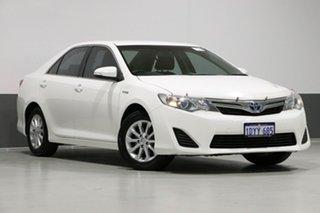 2012 Toyota Camry AVV50R Hybrid H White Continuous Variable Sedan.