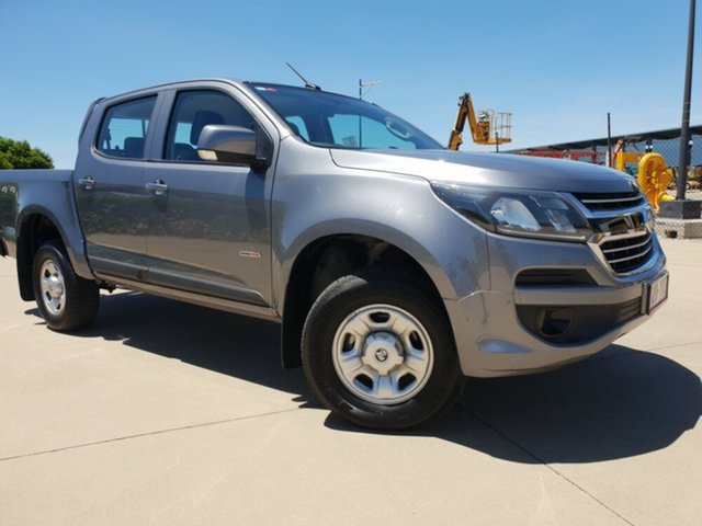 Used Holden Colorado RG MY18 LS Pickup Crew Cab, 2018 Holden Colorado RG MY18 LS Pickup Crew Cab Satin Steel Grey 6 Speed Sports Automatic Utility