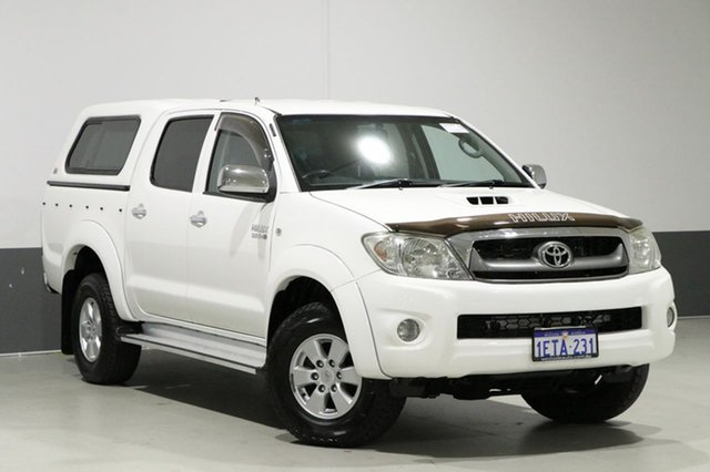 Used Toyota Hilux KUN26R 09 Upgrade SR5 (4x4), 2010 Toyota Hilux KUN26R 09 Upgrade SR5 (4x4) White 4 Speed Automatic Dual Cab Pick-up