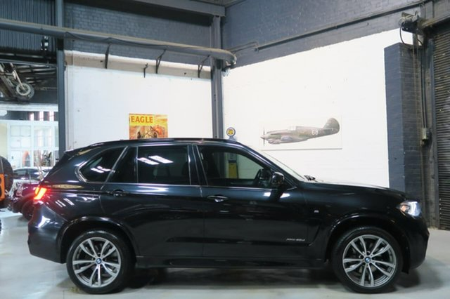 Used BMW X5 F15 xDrive40d, 2014 BMW X5 F15 xDrive40d Black 8 Speed Sports Automatic Wagon