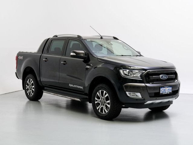 Used Ford Ranger PX MkII Wildtrak 3.2 (4x4), 2015 Ford Ranger PX MkII Wildtrak 3.2 (4x4) Black 6 Speed Manual Dual Cab Pick-up