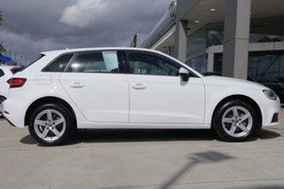 2017 Audi A3 8V MY17 Sportback S Tronic White 7 Speed Sports Automatic Dual Clutch Hatchback.