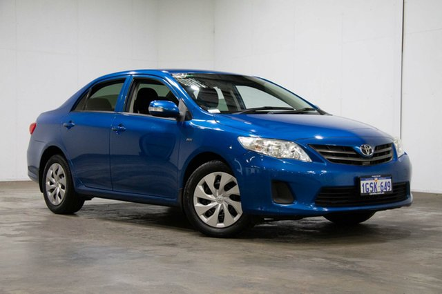 Used Toyota Corolla ZRE152R Ascent, 2013 Toyota Corolla ZRE152R Ascent Blue 4 Speed Automatic Sedan
