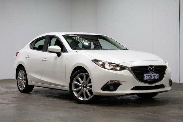Used Mazda 3 BM5238 SP25 SKYACTIV-Drive, 2015 Mazda 3 BM5238 SP25 SKYACTIV-Drive White 6 Speed Sports Automatic Sedan
