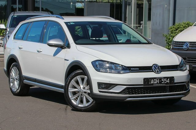 Used Volkswagen Golf 7.5 MY18 Alltrack DSG 4MOTION 132TSI, 2017 Volkswagen Golf 7.5 MY18 Alltrack DSG 4MOTION 132TSI White 6 Speed Sports Automatic Dual Clutch