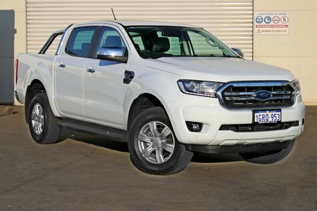 Demo Ford Ranger  XLT Pick-up Double Cab, 2018 Ford Ranger PX MKIII 2019.0 XLT Pick-up Double Cab Frozen White 6 Speed Sports Automatic