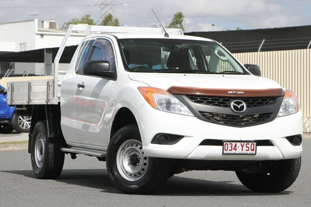 Used Mazda BT-50 UP0YF1 XT Freestyle 4x2 Hi-Rider, 2015 Mazda BT-50 UP0YF1 XT Freestyle 4x2 Hi-Rider White 6 Speed Manual Cab Chassis