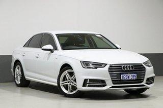 2017 Audi A4 F4 MY18 (B9) 2.0 TFSI S Tronic S Line White 7 Speed Auto Dual Clutch Sedan.