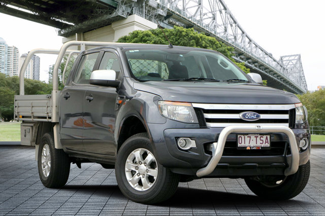 Used Ford Ranger PX XLS Double Cab, 2013 Ford Ranger PX XLS Double Cab Grey 6 Speed Manual Utility