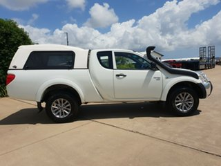 2011 Mitsubishi Triton MN MY11 GLX Club Cab White 5 Speed Manual Utility.
