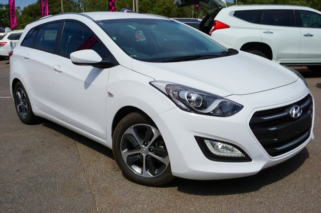 Used Hyundai i30 GD Active Tourer, 2015 Hyundai i30 GD Active Tourer White 6 Speed Sports Automatic Wagon