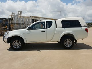 2011 Mitsubishi Triton MN MY11 GLX Club Cab White 5 Speed Manual Utility