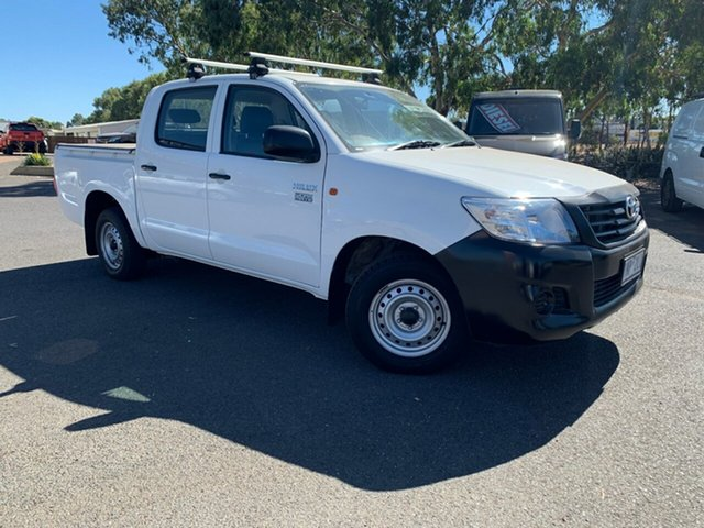 Used Toyota Hilux TGN16R MY14 Workmate Double Cab 4x2, 2013 Toyota Hilux TGN16R MY14 Workmate Double Cab 4x2 White 4 Speed Automatic Utility