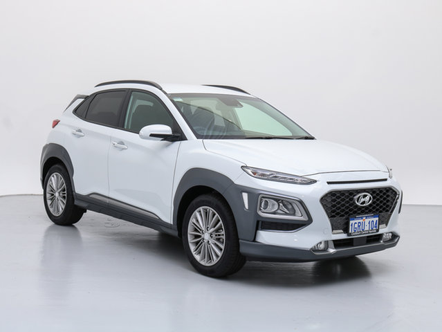 Demo Hyundai Kona OS.2 MY19 Elite (FWD), 2018 Hyundai Kona OS.2 MY19 Elite (FWD) Chalk White 6 Speed Automatic Wagon