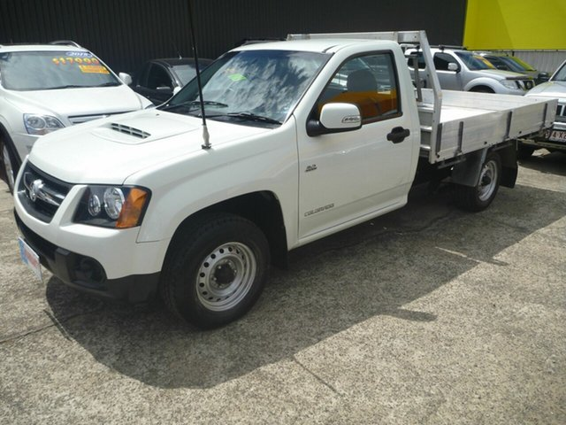 Used Holden Colorado RC MY11 LX 4x2, 2011 Holden Colorado RC MY11 LX 4x2 White 5 Speed Manual Cab Chassis