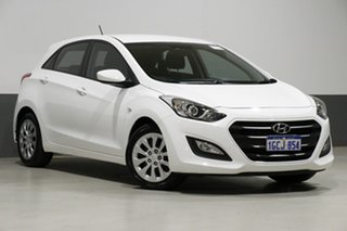 2016 Hyundai i30 GD4 Series 2 Update Active White 6 Speed Automatic Hatchback.