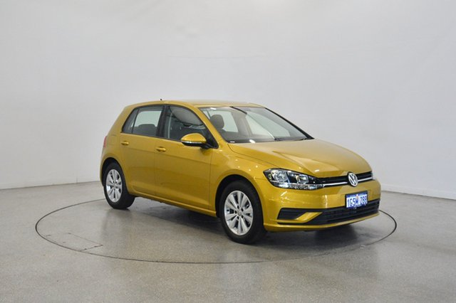 Used Volkswagen Golf 7.5 MY19.5 110TSI DSG Trendline, 2019 Volkswagen Golf 7.5 MY19.5 110TSI DSG Trendline Turmeric Yellow 7 Speed