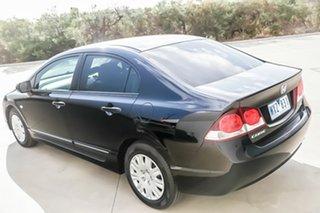 2008 Honda Civic 8th Gen MY08 VTi Black 5 Speed Automatic Sedan.