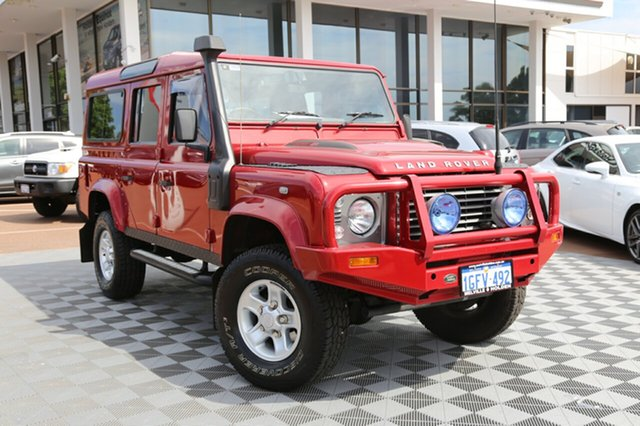 Used Land Rover Defender 110 13MY , 2013 Land Rover Defender 110 13MY Red 6 Speed Manual Wagon
