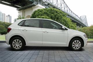 2018 Volkswagen Polo AW MY18 70TSI Trendline White 5 Speed Manual Hatchback.