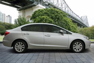 2012 Honda Civic 9th Gen VTi-L Silver 5 Speed Sports Automatic Sedan.