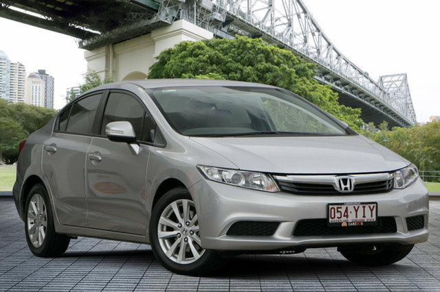 Used Honda Civic 9th Gen VTi-L, 2012 Honda Civic 9th Gen VTi-L Silver 5 Speed Sports Automatic Sedan
