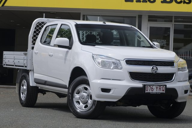 Used Holden Colorado RG MY14 LX Crew Cab, 2014 Holden Colorado RG MY14 LX Crew Cab White 6 Speed Manual Utility