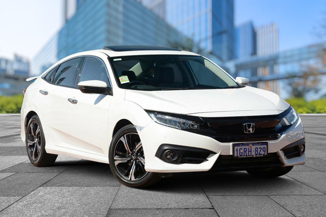 Demo Honda Civic 10th Gen MY18 RS, 2018 Honda Civic 10th Gen MY18 RS White Orchid 1 Speed Constant Variable Sedan