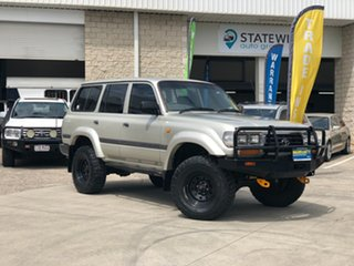 1997 Toyota Landcruiser FZJ80R GXL Silver 4 Speed Automatic Wagon.
