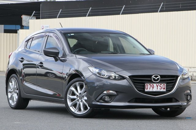 Used Mazda 3 BM5438 SP25 SKYACTIV-Drive, 2016 Mazda 3 BM5438 SP25 SKYACTIV-Drive Meteor Grey 6 Speed Sports Automatic Hatchback