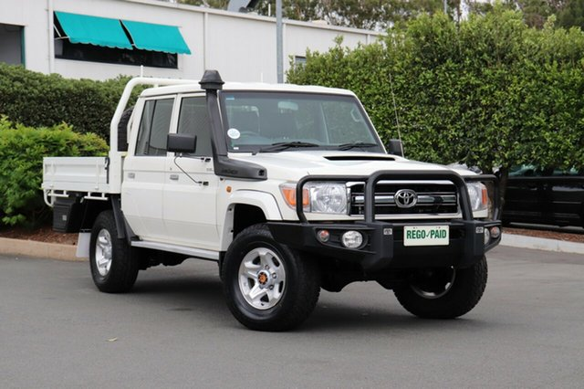 Used Toyota Landcruiser VDJ79R GXL Double Cab, 2016 Toyota Landcruiser VDJ79R GXL Double Cab French Vanilla 5 Speed Manual Cab Chassis