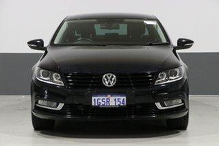 2012 Volkswagen CC 3C MY13 125 TDI Black 6 Speed Direct Shift Coupe.