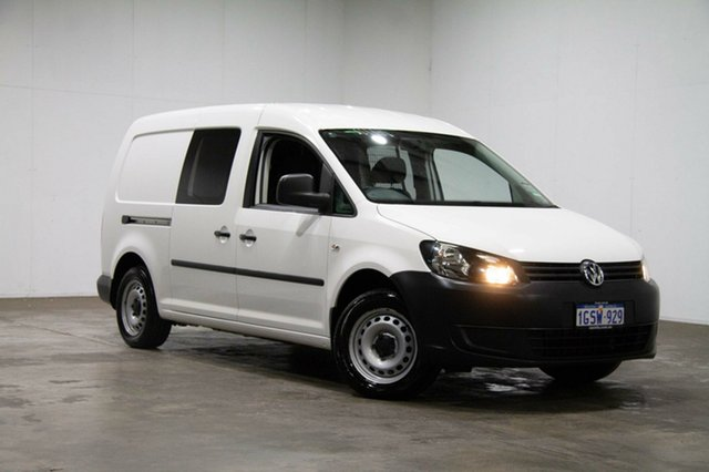 Used Volkswagen Caddy 2KN MY14 TDI250 BlueMOTION Maxi DSG, 2014 Volkswagen Caddy 2KN MY14 TDI250 BlueMOTION Maxi DSG Candy White 7 Speed