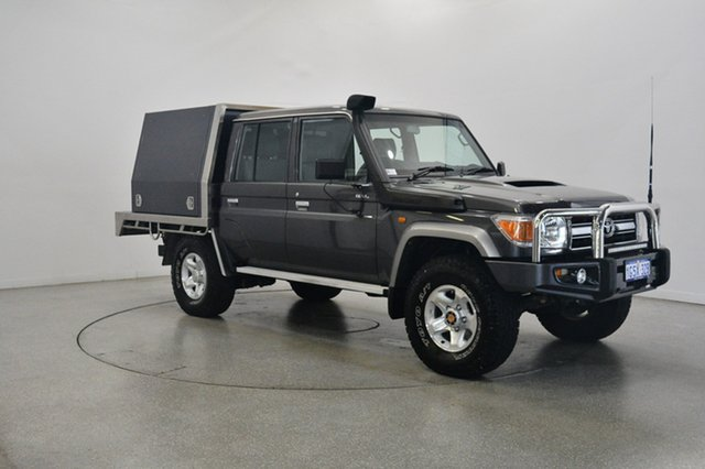 Used Toyota Landcruiser VDJ79R GXL Double Cab, 2014 Toyota Landcruiser VDJ79R GXL Double Cab Grey 5 Speed Manual Cab Chassis