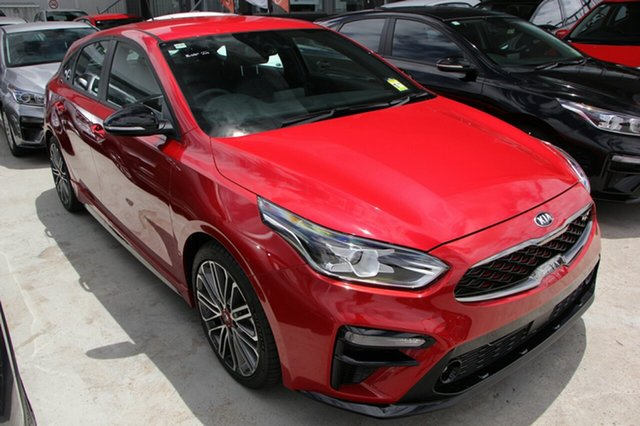 New Kia Cerato BD MY19 GT DCT, 2019 Kia Cerato BD MY19 GT DCT Runway Red 7 Speed Sports Automatic Dual Clutch Hatchback