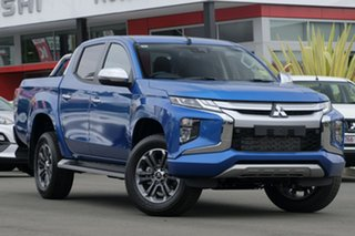 2018 Mitsubishi Triton MR MY19 GLS (4x4) Blue 6 Speed Manual Double Cab Pickup.