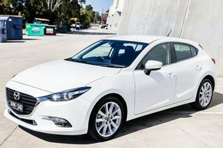 2018 Mazda 3 BN5438 SP25 SKYACTIV-Drive Snowflake White Pearl 6 Speed Sports Automatic Hatchback.